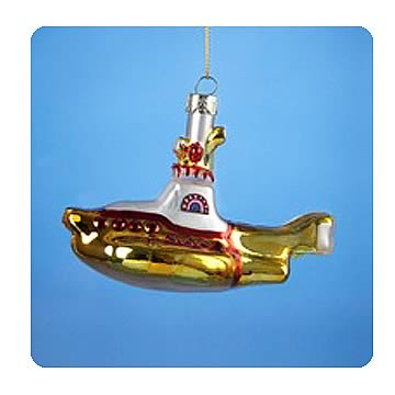Beatles Yellow Submarine 5-Inch Glass Ornament