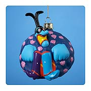 Beatles Yellow Submarine Blue Meanie Glass Ornament