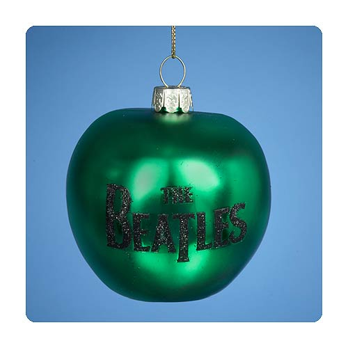 Beatles Lithograph Green Apple Glass Ornament