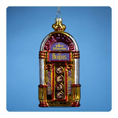 Beatles Yellow Submarine Jukebox 5-Inch Glass Ornament