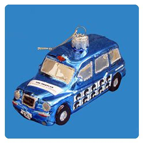 The Beatles London Taxi Glass Ornament