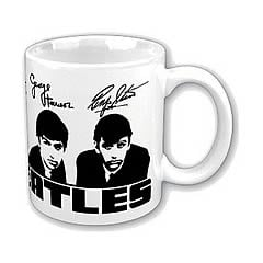Beatles Fab Four Portraits and Signatures Mug