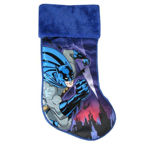 Batman Blue Applique Christmas Stocking