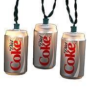 Coca-Cola Diet Coke Can Party Lights Set