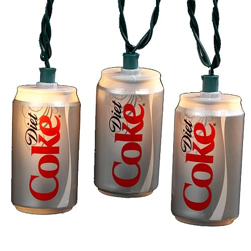 Coca-Cola Diet Coke Can Party Lights Set