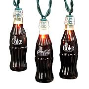 Coca-Cola Plastic Coke Bottle Party Lights Set