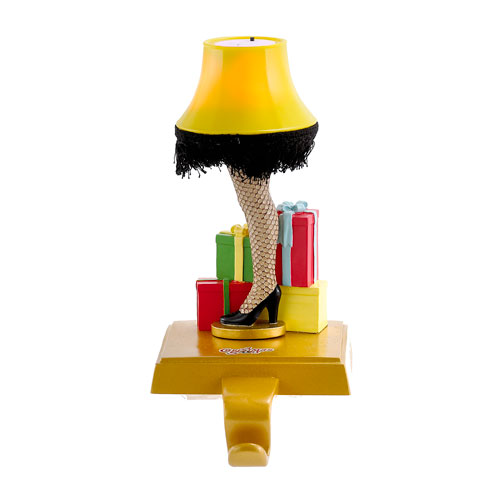 A Christmas Story Leg Lamp 9-Inch Light-Up Stocking Holder
