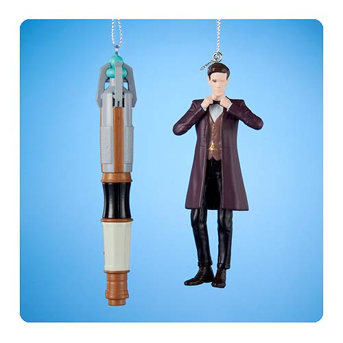 Doctor Who Doctor and Screwdriver Figural Ornament Set