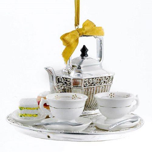 Downton Abbey Teapot Set 4-Inch Ornament
