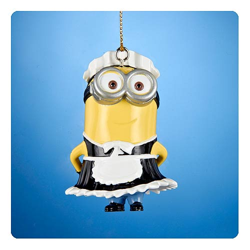 Despicable Me French Maid Dave Figural Resin Ornament