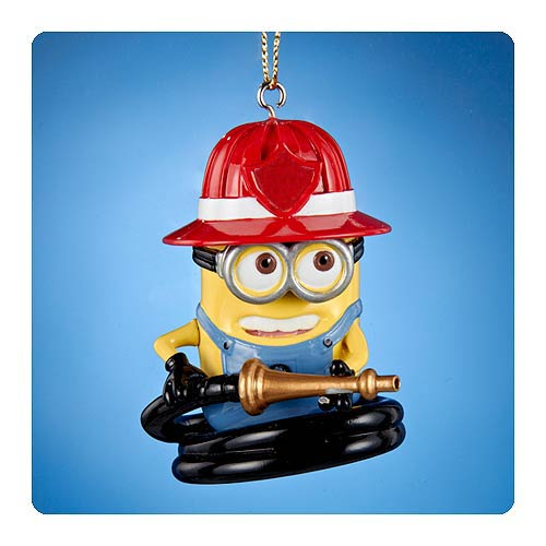 Despicable Me Fire Hose Dave Figural Resin Ornament