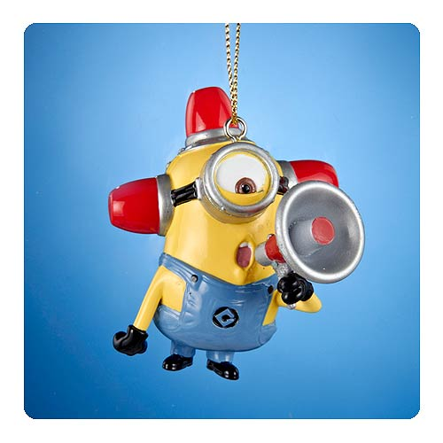 Despicable Me Fire Alarm Carl Figural Resin Ornament