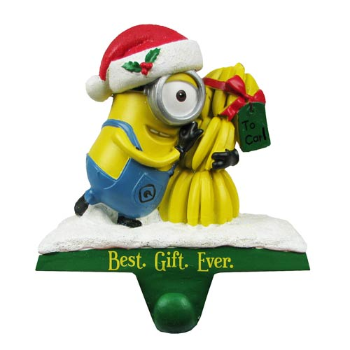 Despicable Me Carl Christmas Stocking Hanger Statue
