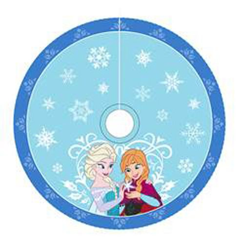 Disney Frozen Anna and Elsa Satin Printed 48-Inch Tree Skirt