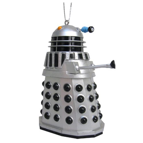 Doctor Who Silver Warrior Dalek 3 1/2-Inch Ornament