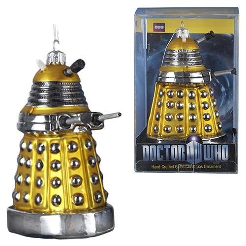 Doctor Who 5-Inch Yellow Dalek Drone Christmas Ornament