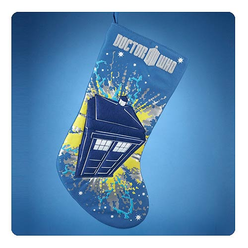 Doctor Who TARDIS Blue Christmas Stocking