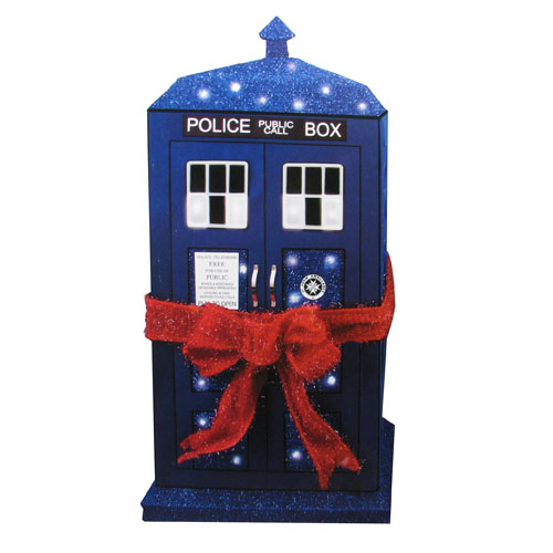 Doctor Who TARDIS 28-Inch Light-Up Tinsel Display