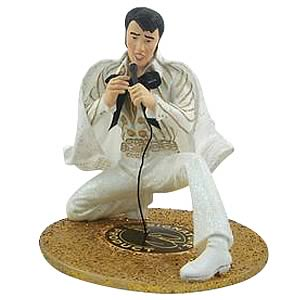 Elvis Presley White Jumpsuit Fabric Mache 6-Inch Statue