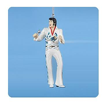 Elvis Presley Peacock Jumpsuit 4 3/4-Inch Ornament