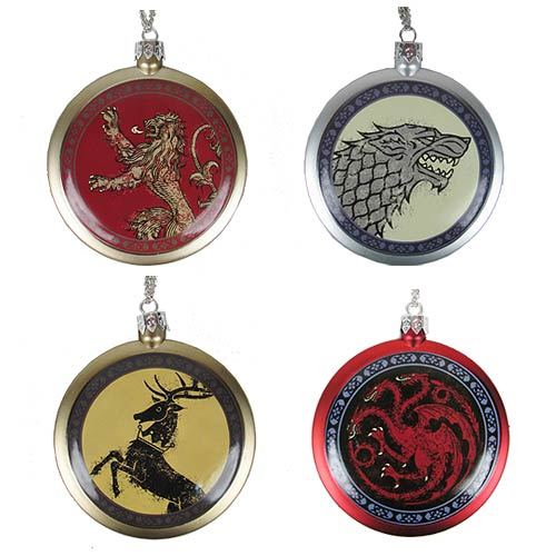 Game of Thrones House Crest 3-Inch Ornament Set