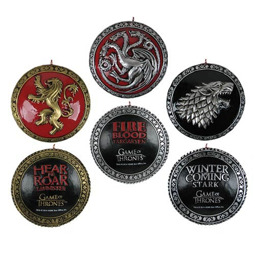 Game of Thrones 3 House Crests 3-Inch Resin Ornament Set