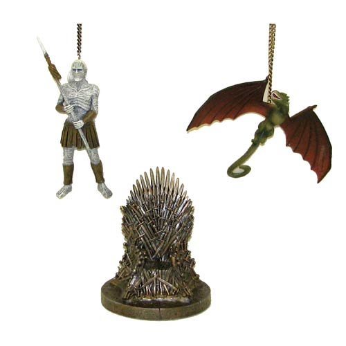 Game of Thrones 4 1/4-Inch Figural Ornament Set
