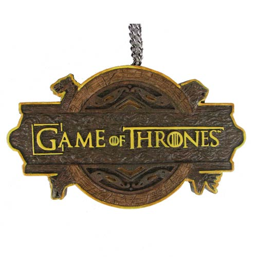 Game of Thrones TV Show Logo 3 3/4-Inch Christmas Ornament