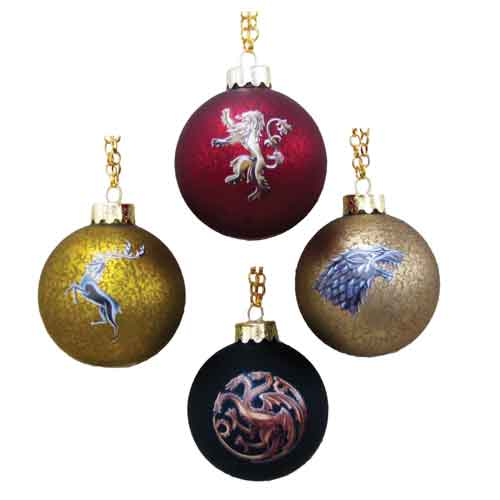 Game of Thrones House Crest Decal Ball Ornament Set