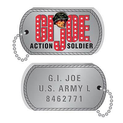 G.I. Joe Dog Tags 4 1/2-Inch Blow Mold Ornaments