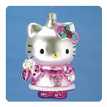 Hello Kitty 5-Inch Glass Ornament