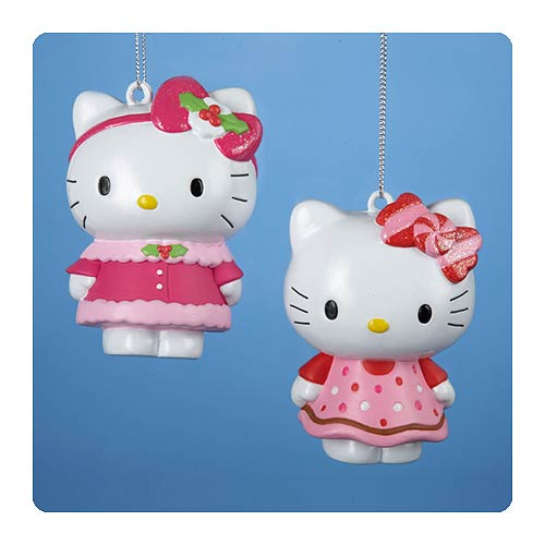 Hello Kitty Series 3 Figural Blow Mold Ornament Set
