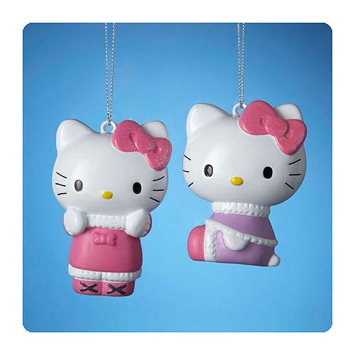 Hello Kitty Series 4 Figural Blow Mold Ornament Set