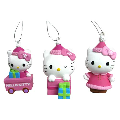 Hello Kitty Series 5 Figural Blow Mold Ornament Set