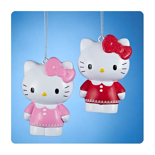 Hello Kitty Series 6 Figural Blow Mold Ornament Set