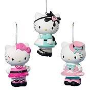Hello Kitty Lolita 3 1/2-Inch Ornaments