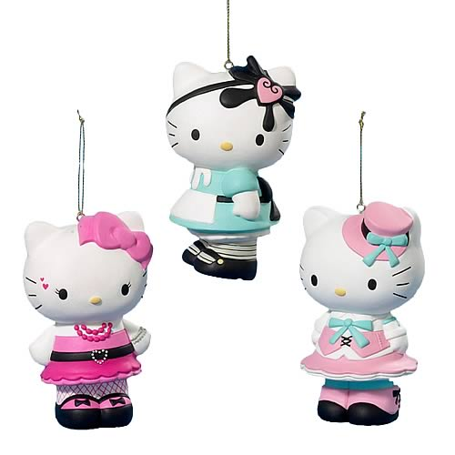 Hello Kitty Lolita 3 1/2-Inch Ornaments
