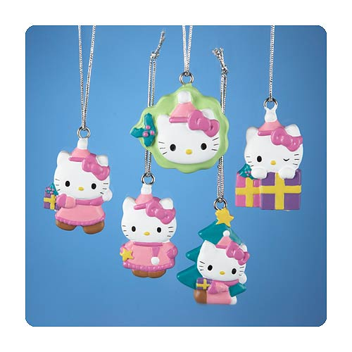 Hello Kitty Mini Resin Ornament 5-Pack