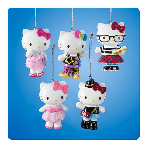 Hello Kitty Series 7 Resin Ornament Set
