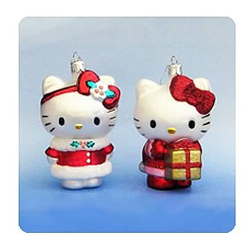 Hello Kitty 4 1/2-Inch Blown Glass Ornament Case