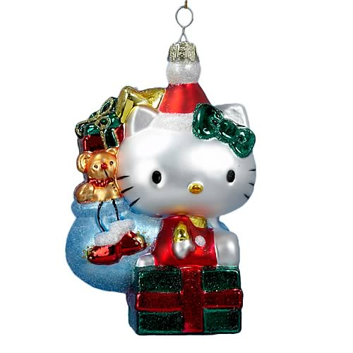 Hello Kitty Retro 5-Inch Glass Ornament