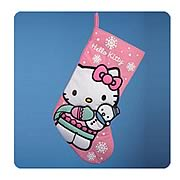Hello Kitty 19-Inch Pink Applique Holiday Stocking
