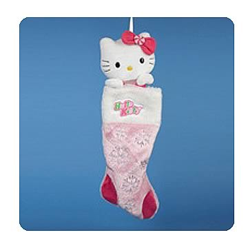 Hello Kitty Plush Head Holiday Stocking