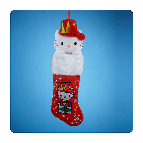 Hello Kitty Plush Head 23-Inch Red Christmas Stocking