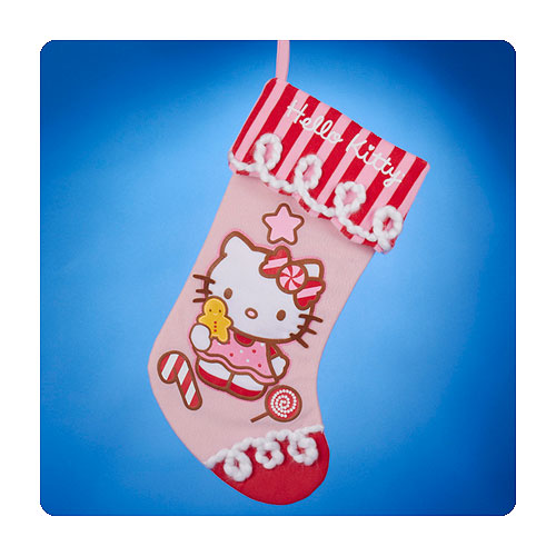 Hello Kitty Candy Cane House Pink Christmas Stocking
