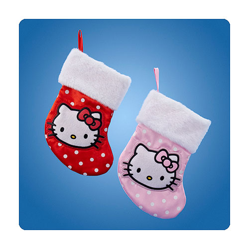 Hello Kitty Polka Dot Mini Christmas Stocking Set