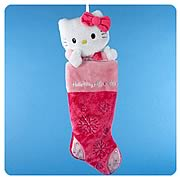 Hello Kitty Pink Plush Head Stocking
