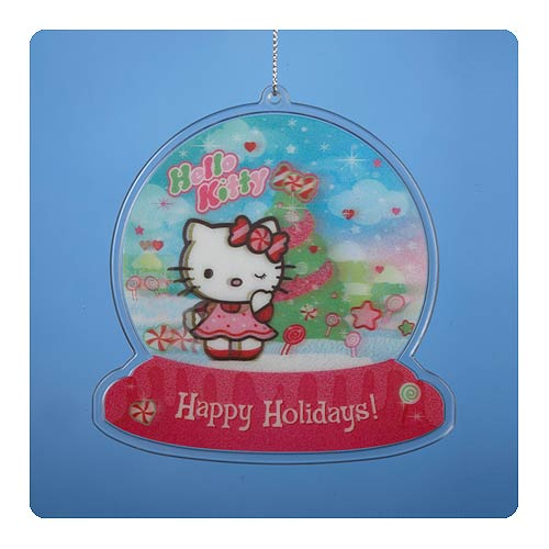 Hello Kitty Lenticular 4 1/4-Inch Ornament