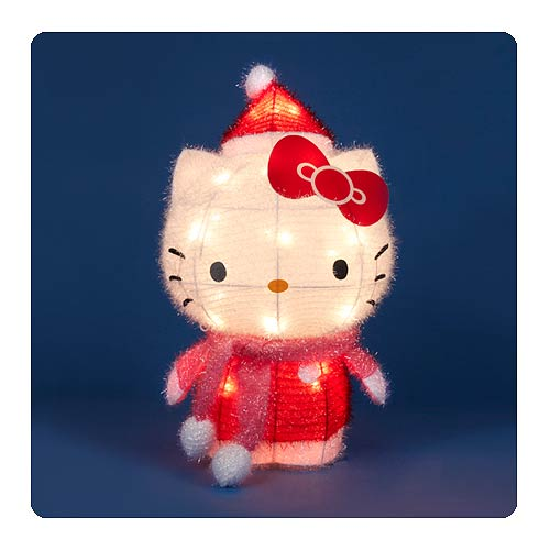 Hello Kitty 28Inch String of 3D Soft Holiday Tinsel Lights
