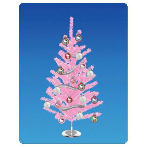 Hello Kitty Pink Tinsel 15-Inch Christmas Tree